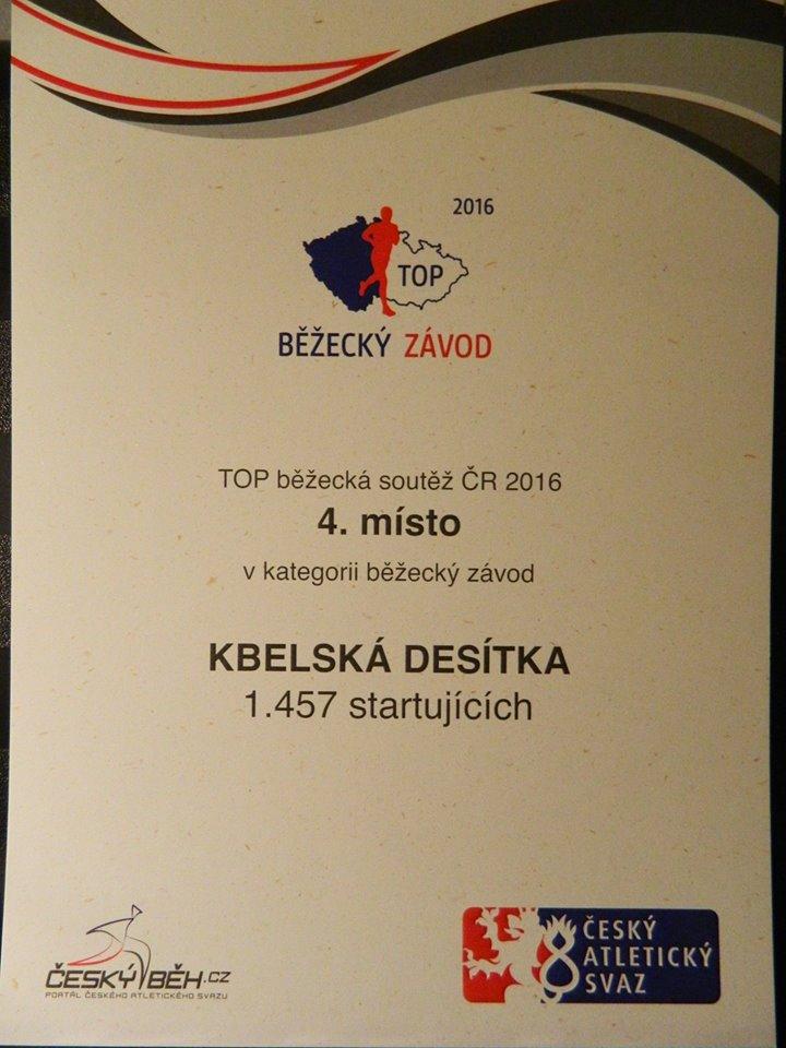 Český atletický svaz znovu ocenil nejvýznamnější pořadatele běžeckých závodů