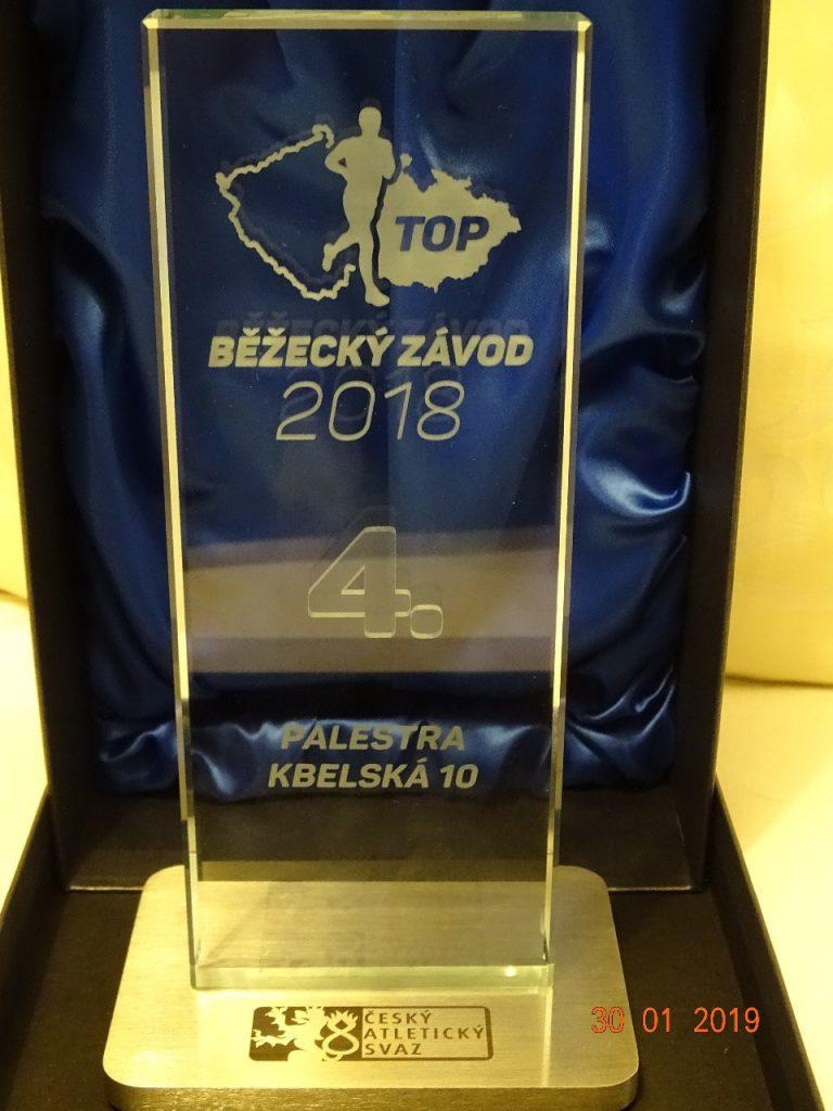 """PALESTRA Kbelská 10 byla oceněna v kategorii """"Top běžecký závod"""""""
