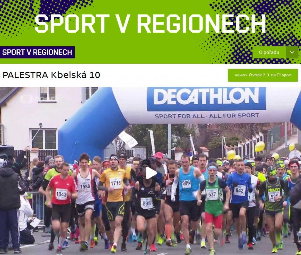 Reportáž o závodu na ČT Sport