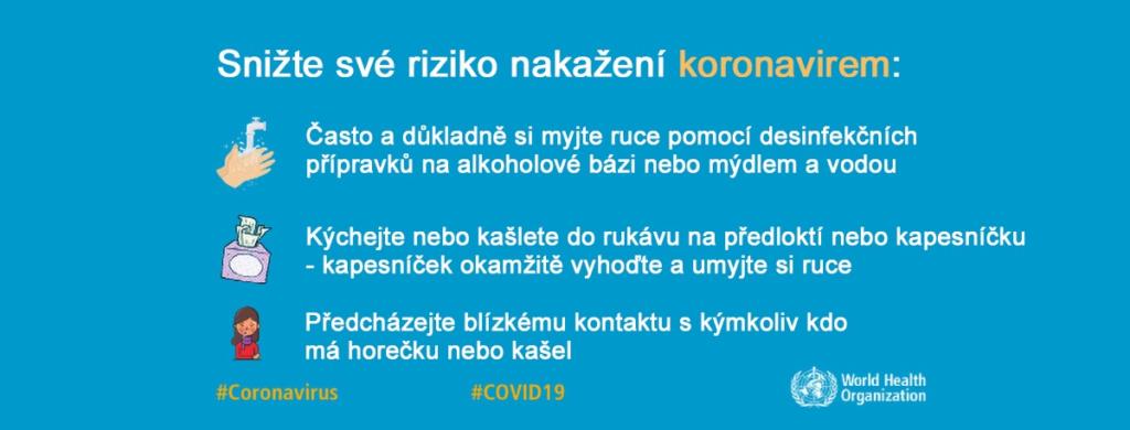 Souhrn aktuálních informací pro účastníky v souvislosti s novým koronavirem